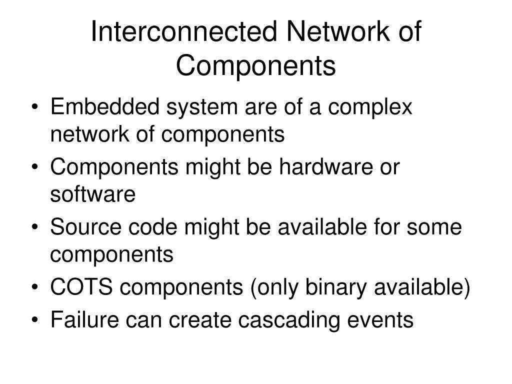 Interconnected Network of Components