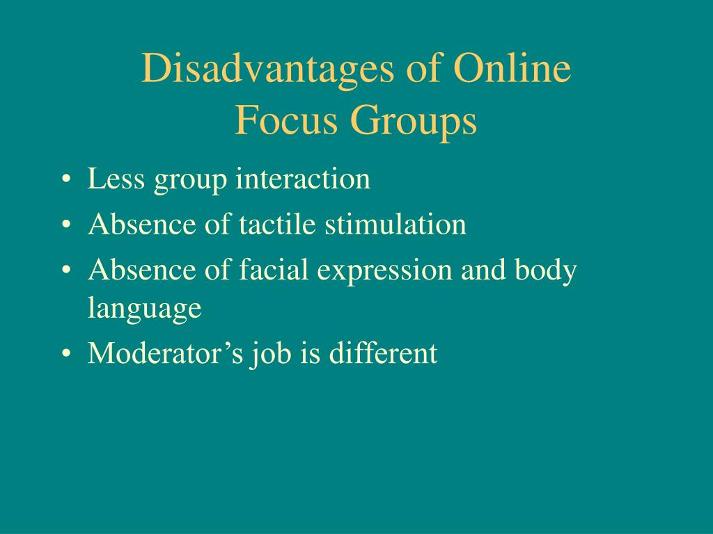 disadvantages of group presentation Solving problems using a group - advantages and disadvantages by gary hadler during our study and work life we will often be expected to work as a part of a group.