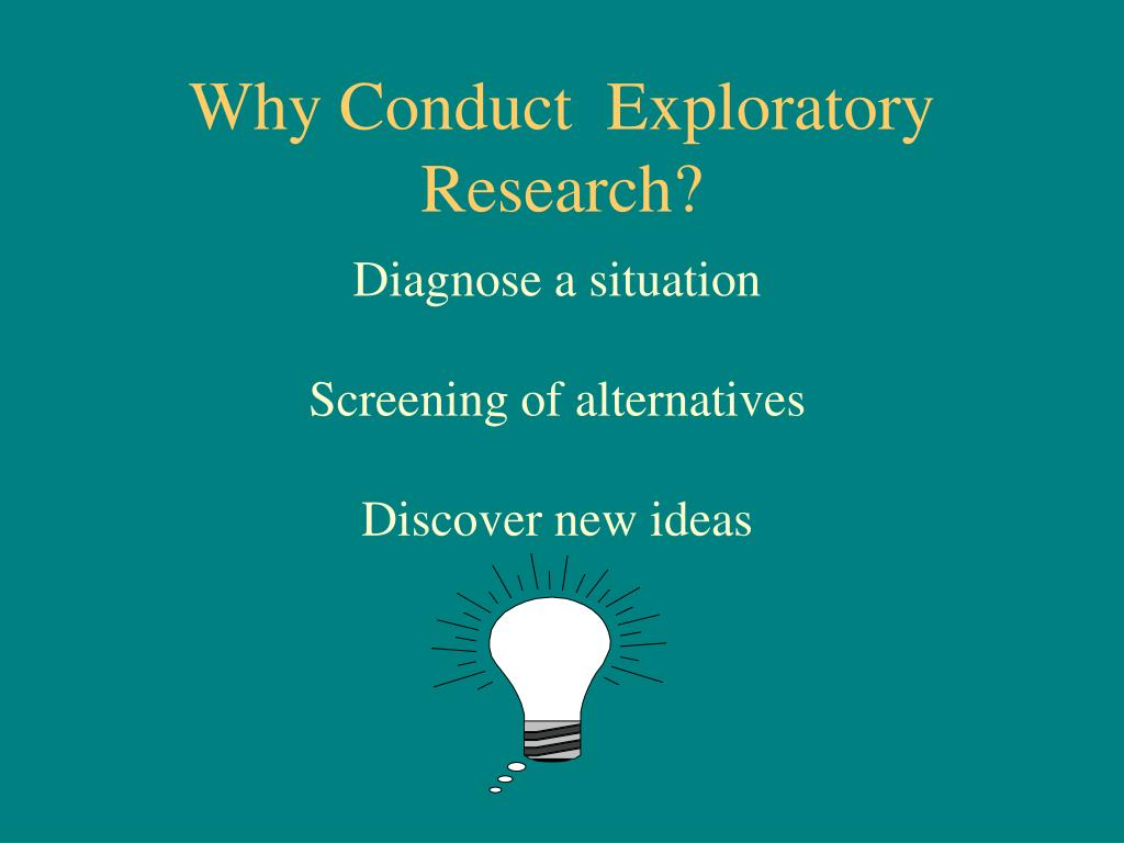 exploratory research and descriptive research Exploratory and confirmatory analyses exploratory and confirmatory research has often not been clear in academic research one symptom of this is when studies.