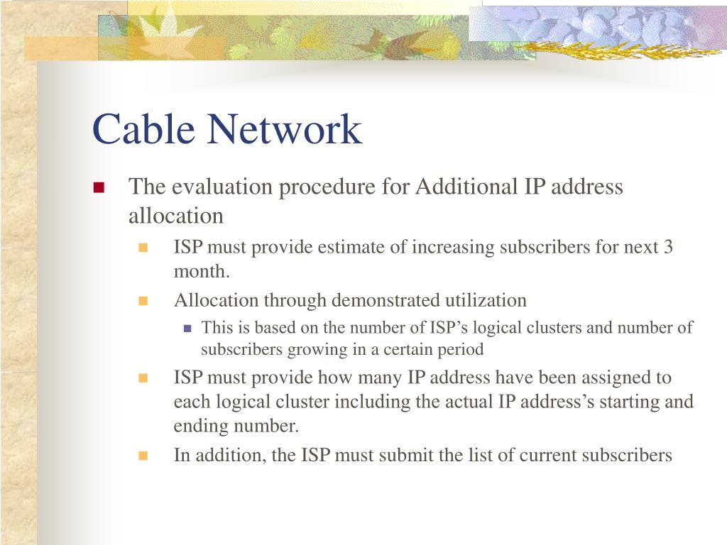 network assignment ppt