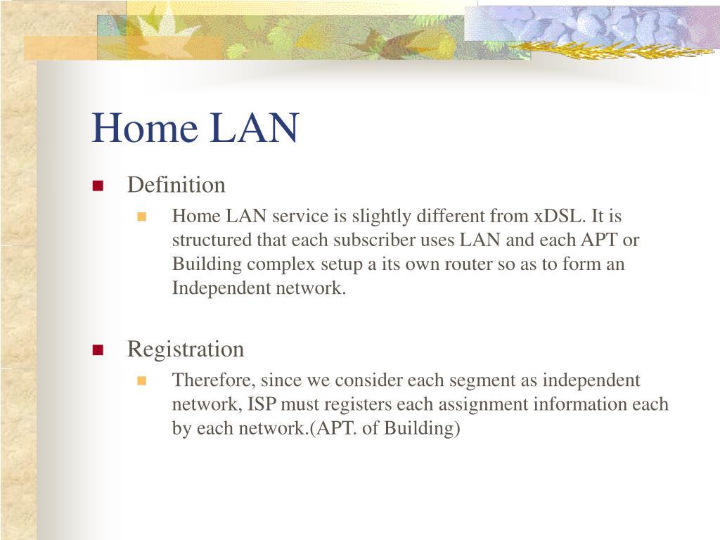 Home LAN