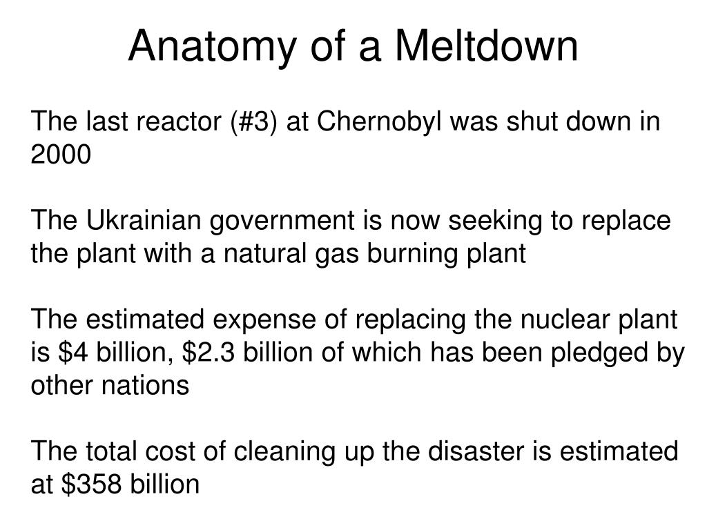 Anatomy of a Meltdown