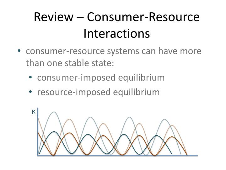Review – Consumer-Resource Interactions