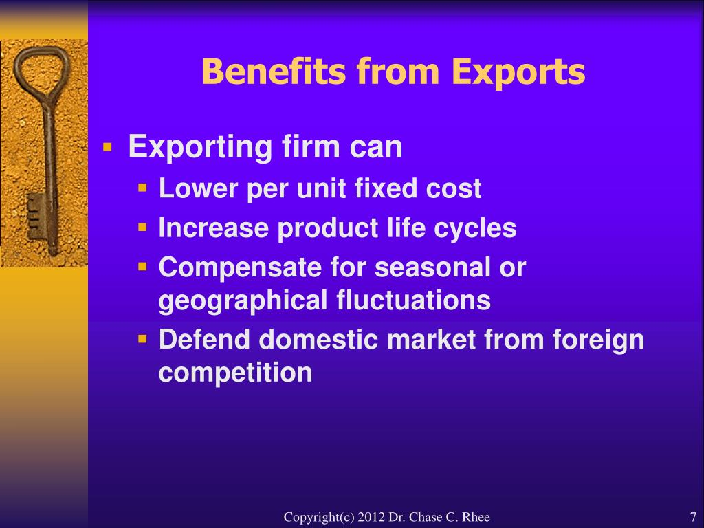 Benefits from Exports
