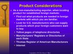 product considerations9
