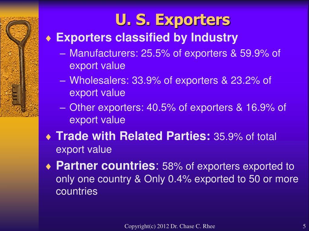 U. S. Exporters