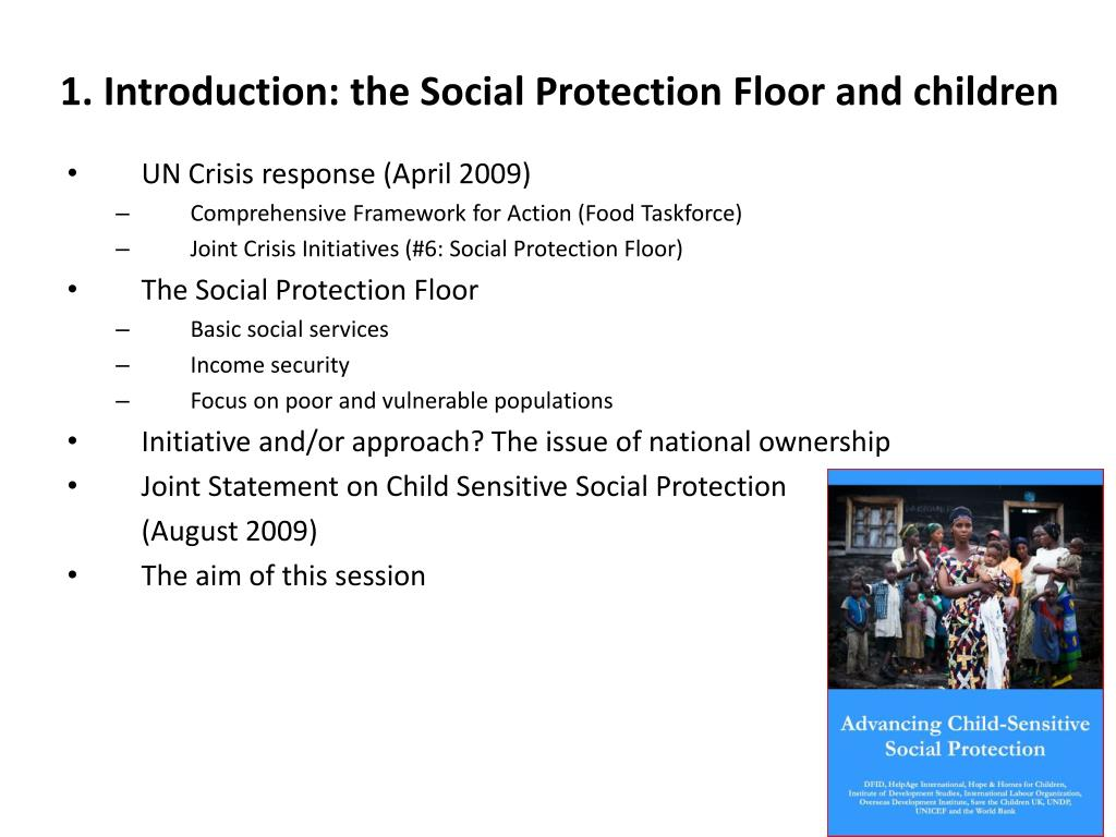 1. Introduction: the Social Protection Floor and children