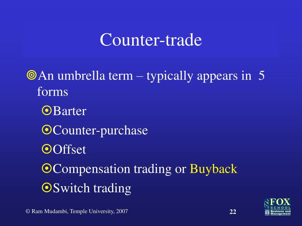 Counter-trade