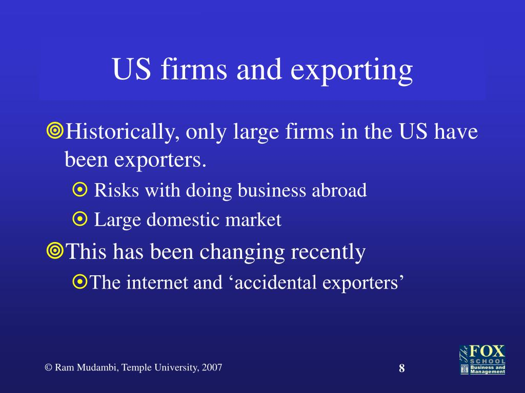 US firms and exporting