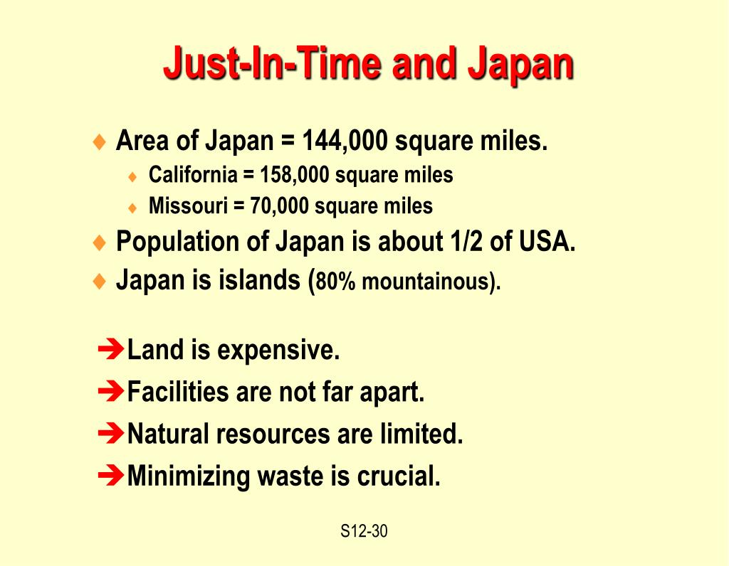 Just-In-Time and Japan