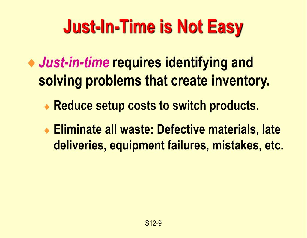 Just-In-Time is Not Easy