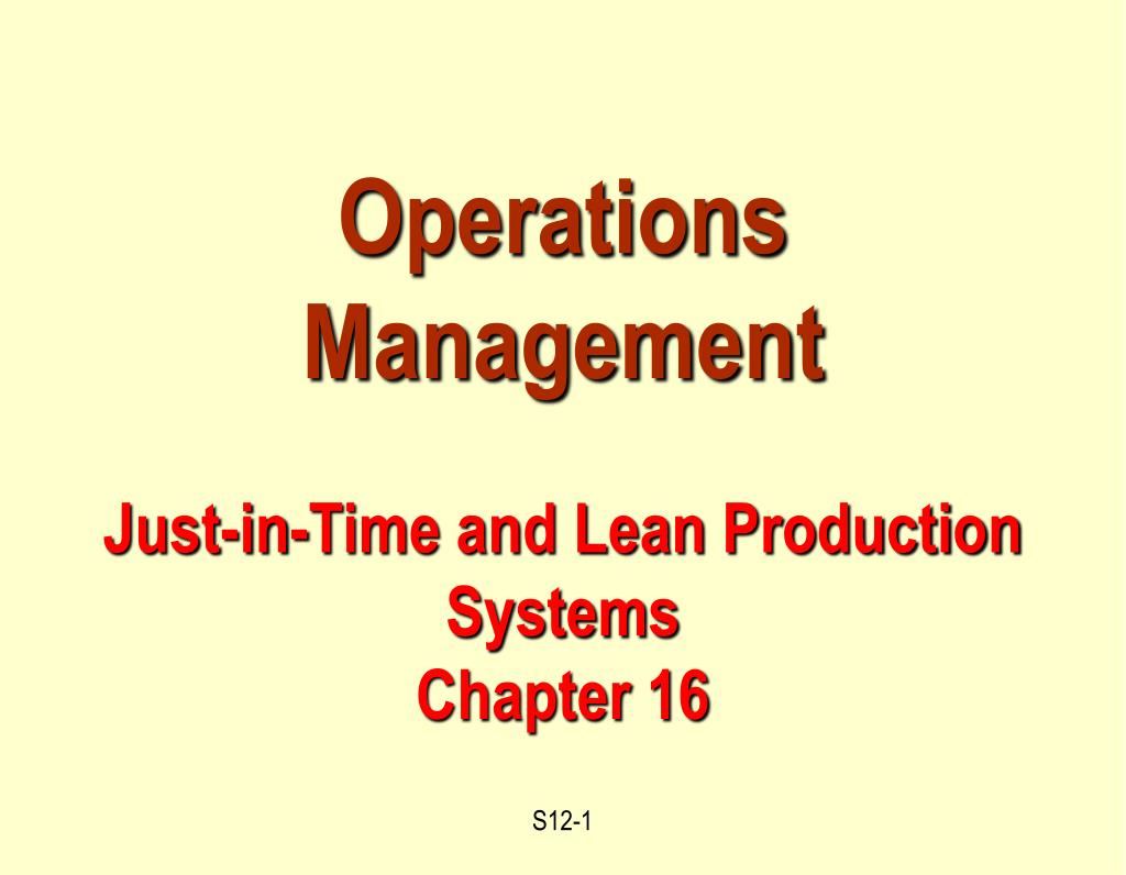 just in time production pdf