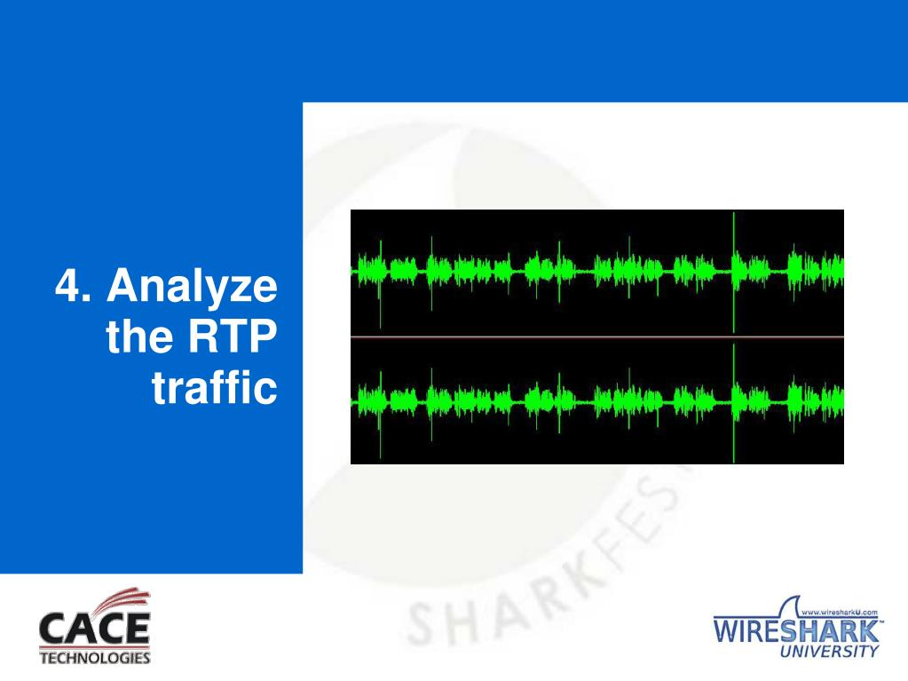 4. Analyze the RTP traffic