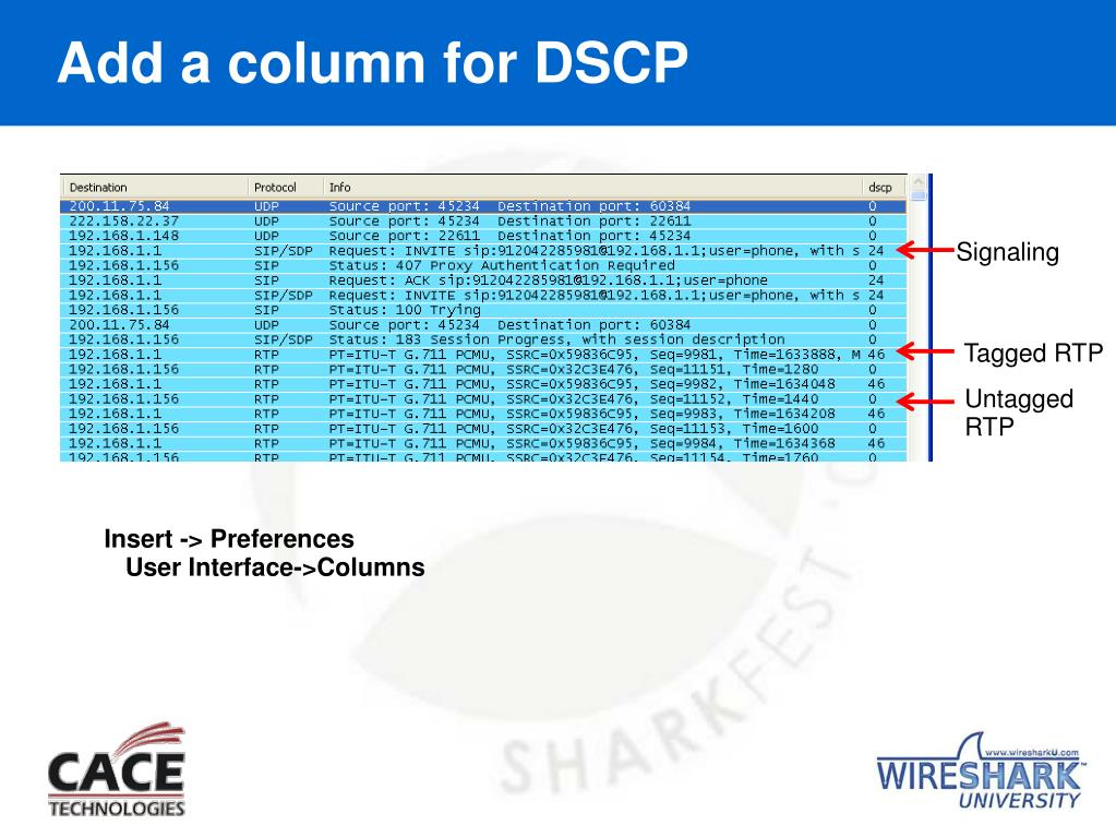 Add a column for DSCP