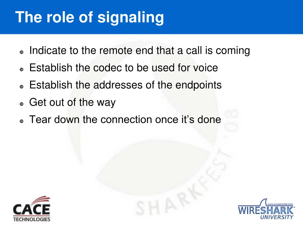 The role of signaling