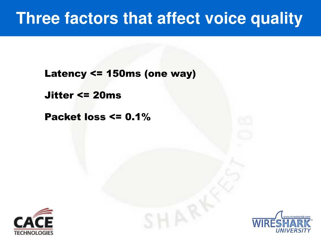 Three factors that affect voice quality