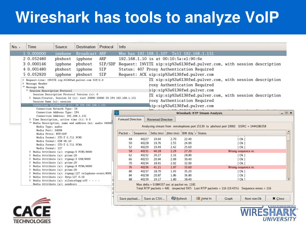 Wireshark has tools to analyze VoIP