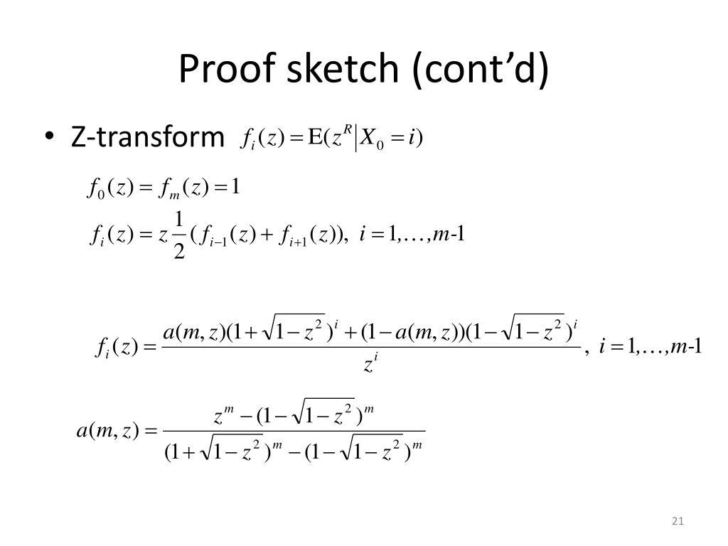 Proof sketch (cont'd)