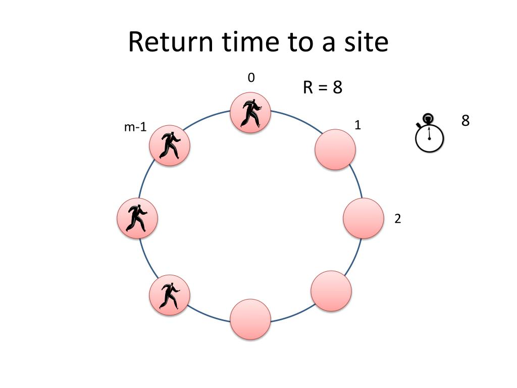 Return time to a site