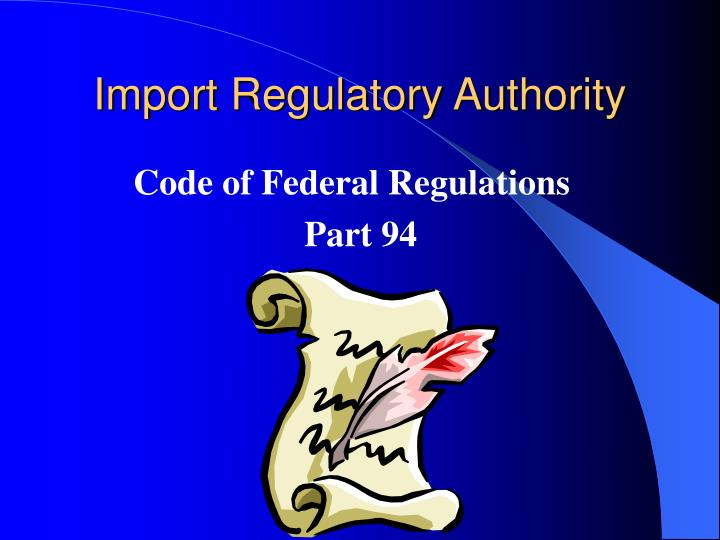 Title 19 code of federal regulations