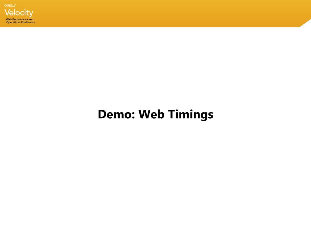 Demo: Web Timings