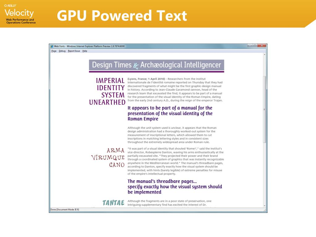 GPU Powered Text