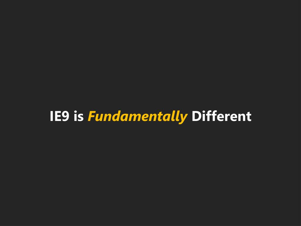 IE9 is