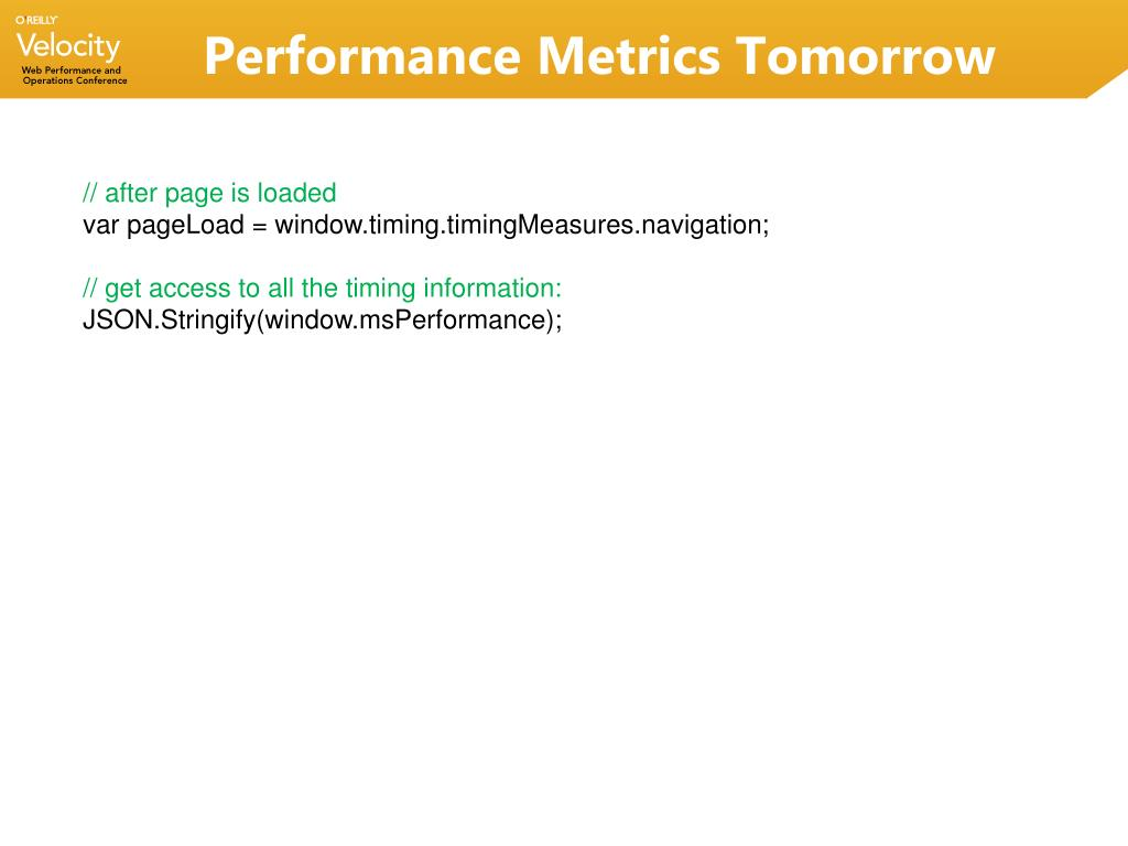 Performance Metrics Tomorrow