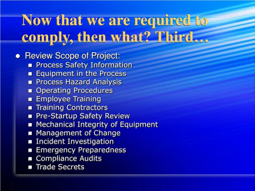 process safety and operation integrity