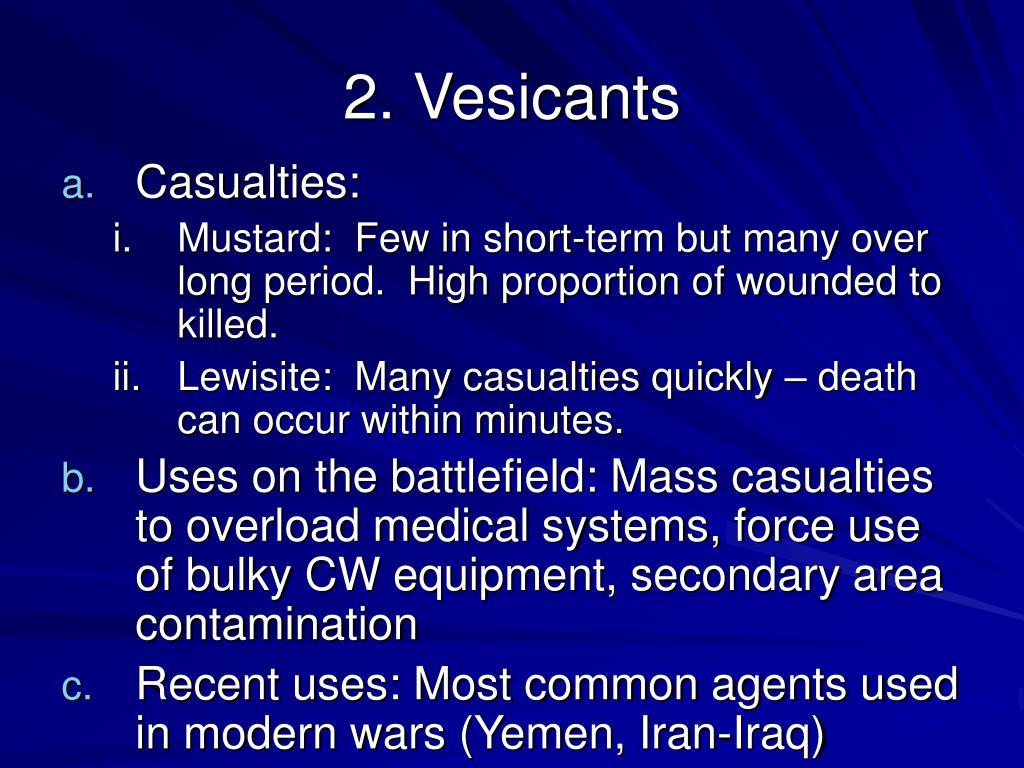 2. Vesicants