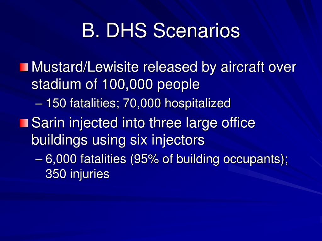 B. DHS Scenarios