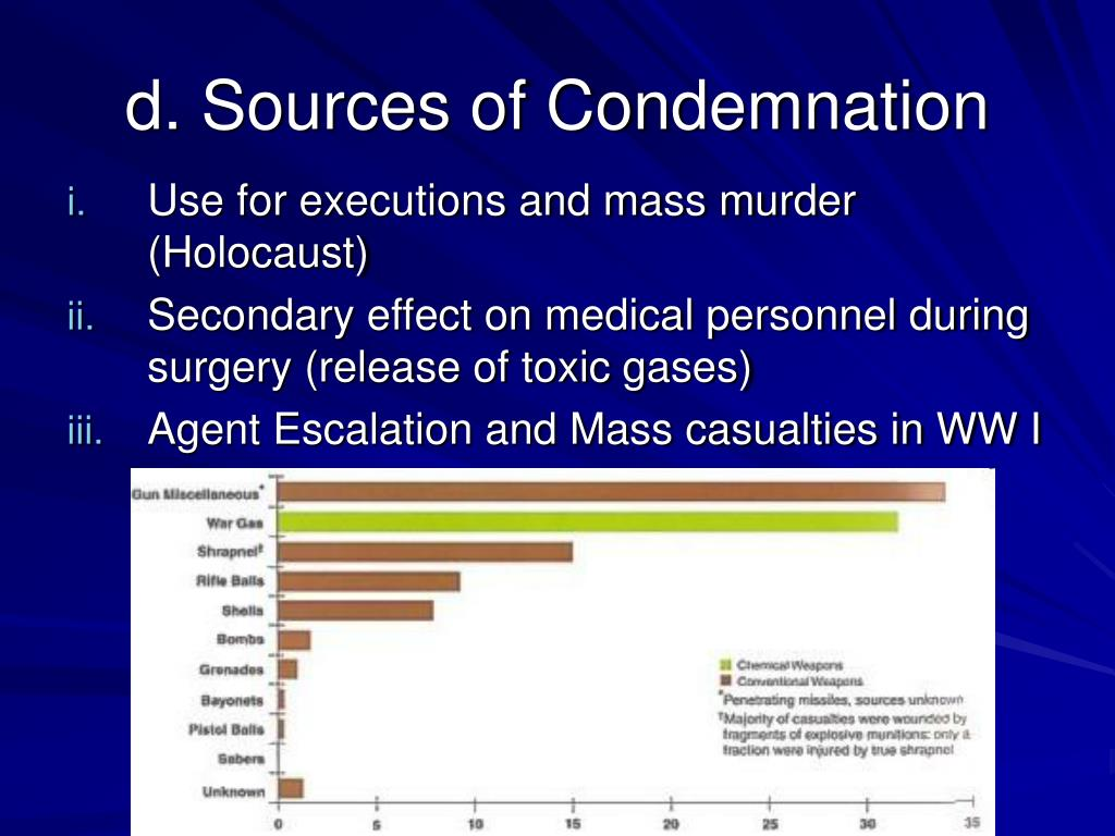 d. Sources of Condemnation