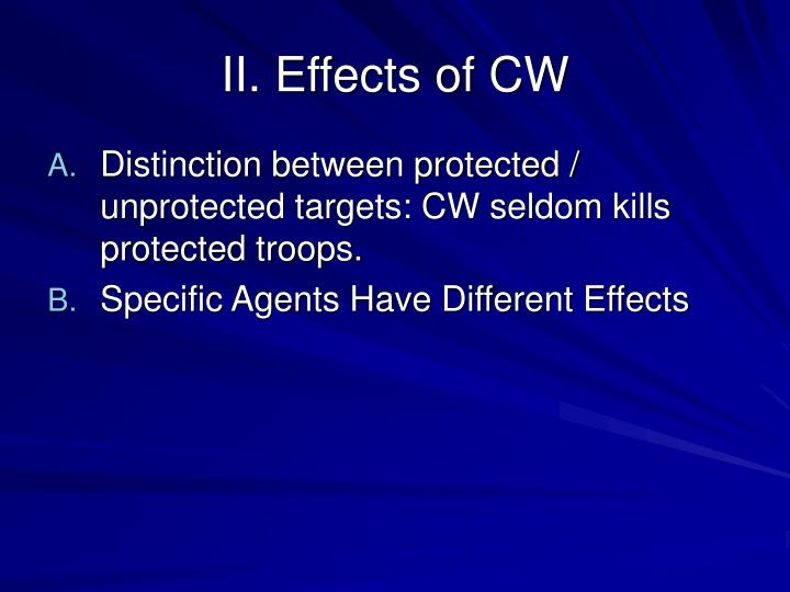 Ii effects of cw
