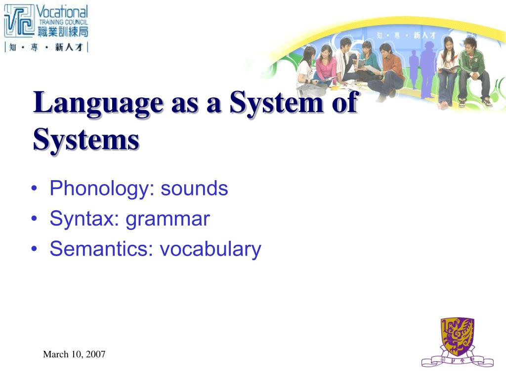 Language as a System of Systems