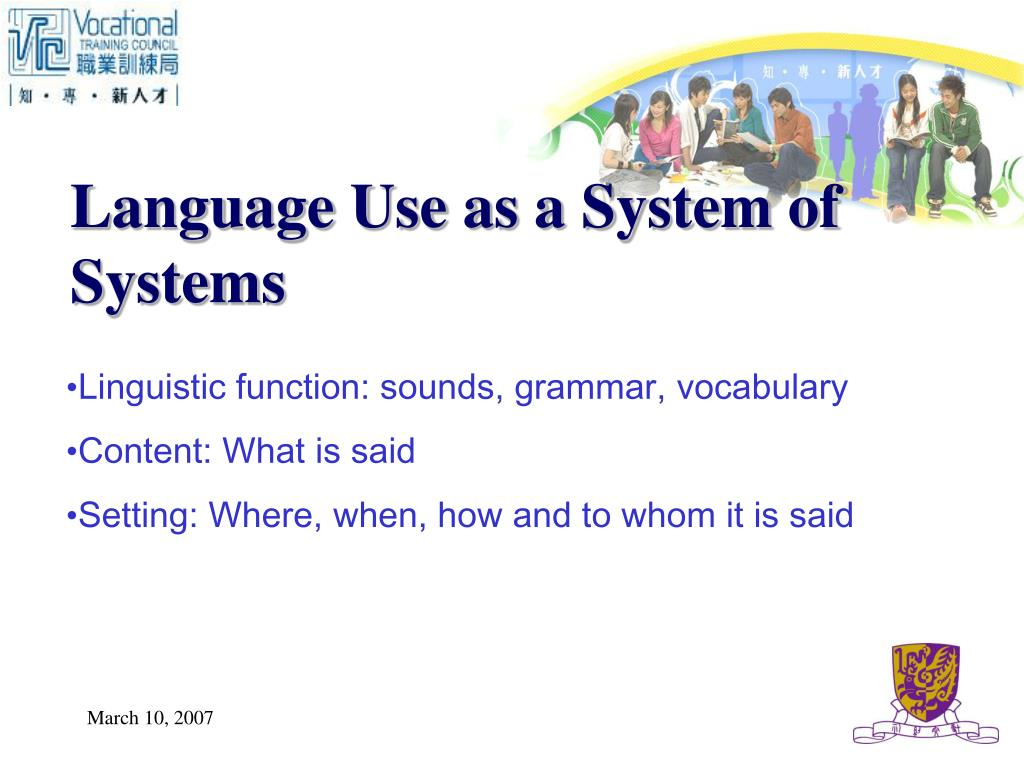 Language Use as a System of Systems
