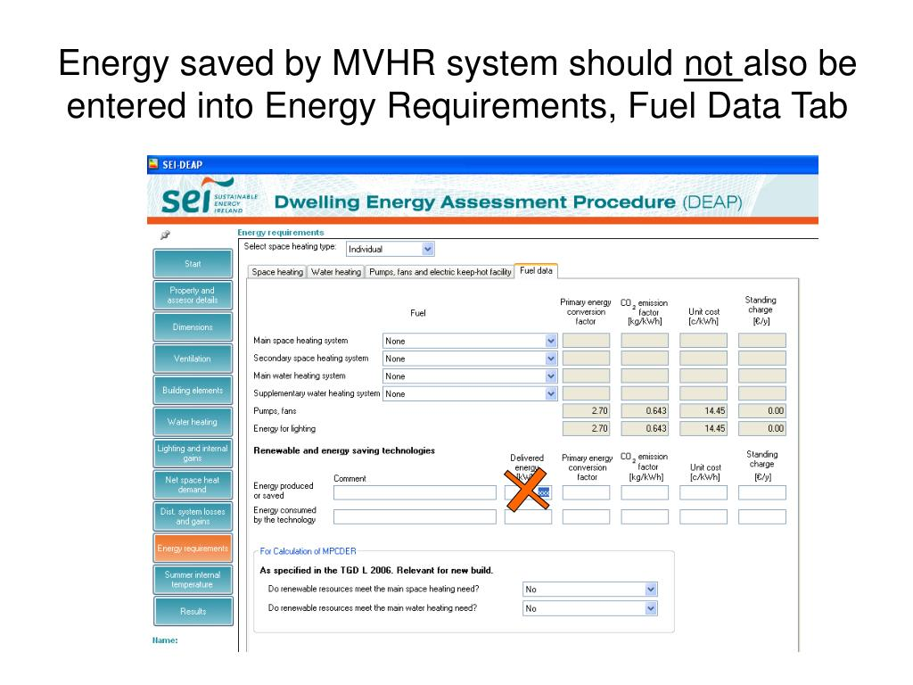 Energy saved by MVHR system should
