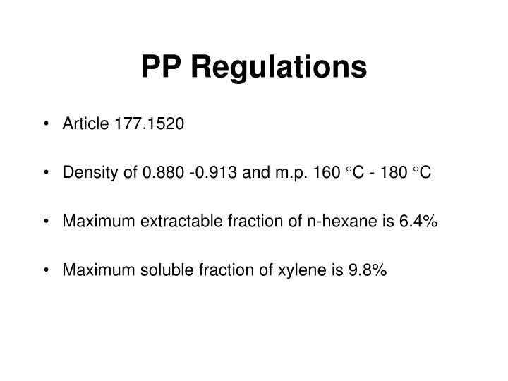 PP Regulations