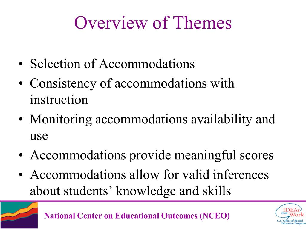 Selection of Accommodations