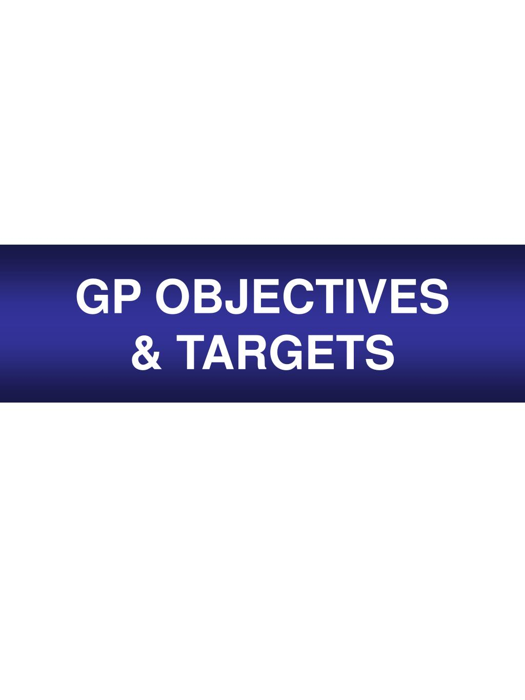 GP OBJECTIVES