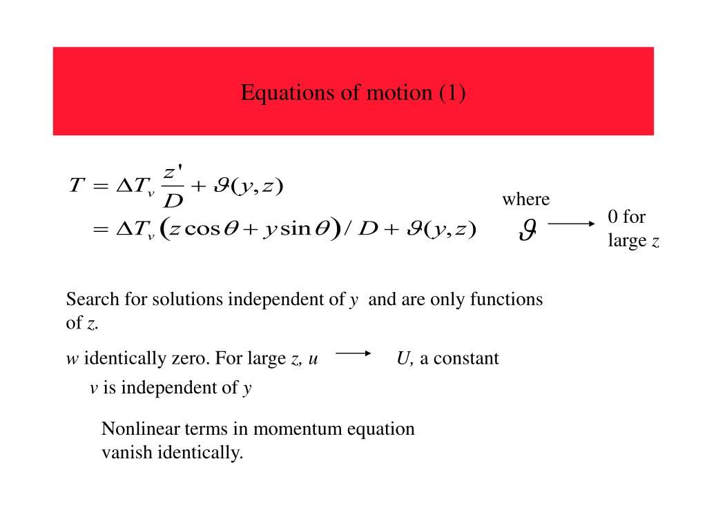 Equations of motion (1)