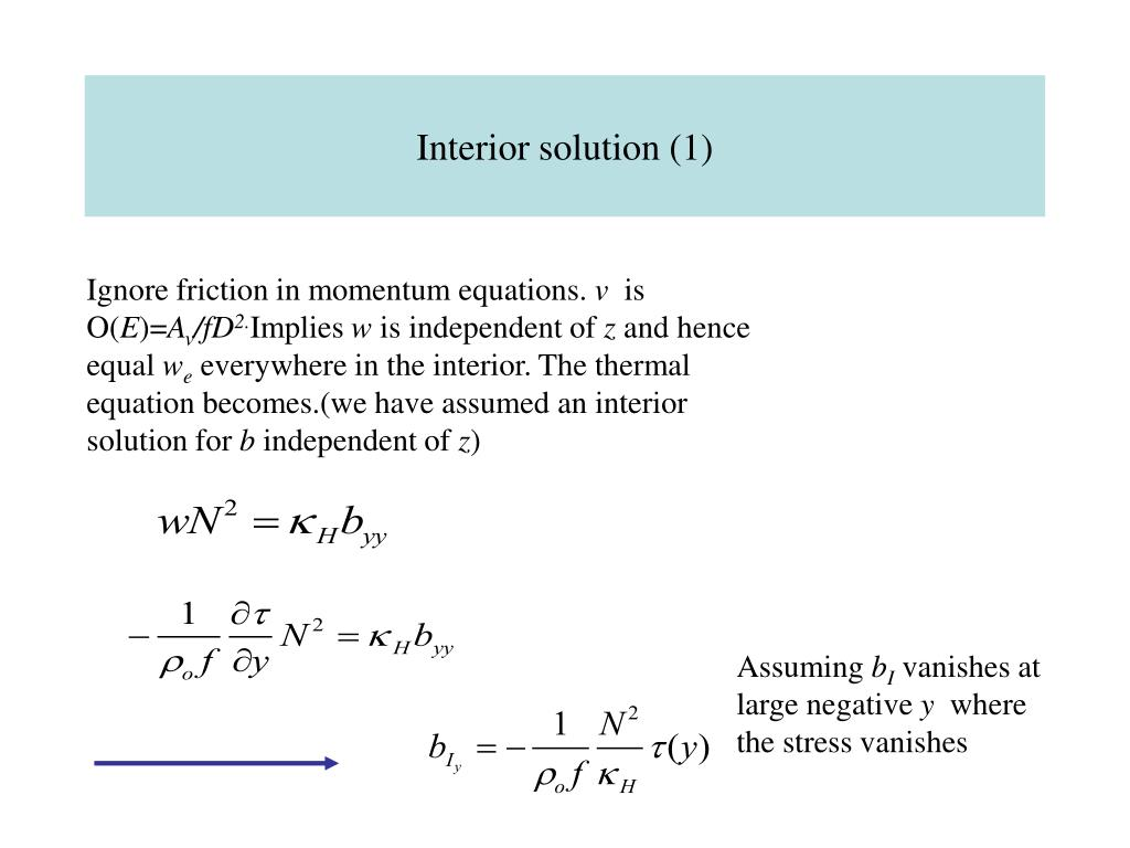 Interior solution (1)