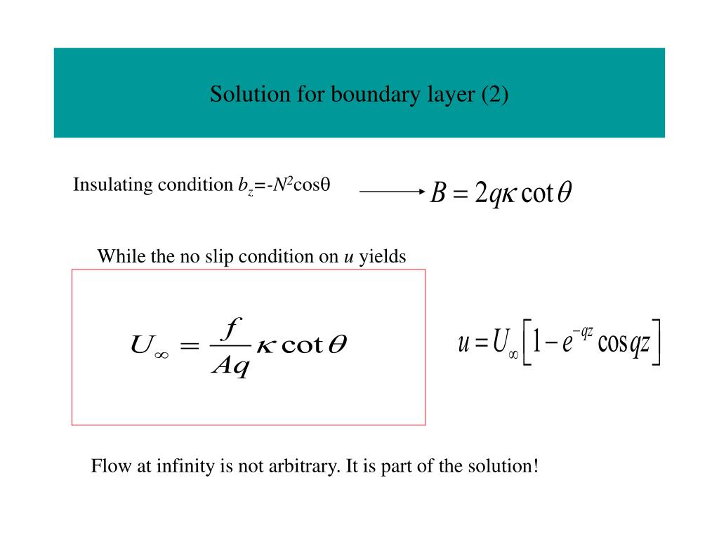 Solution for boundary layer (2)