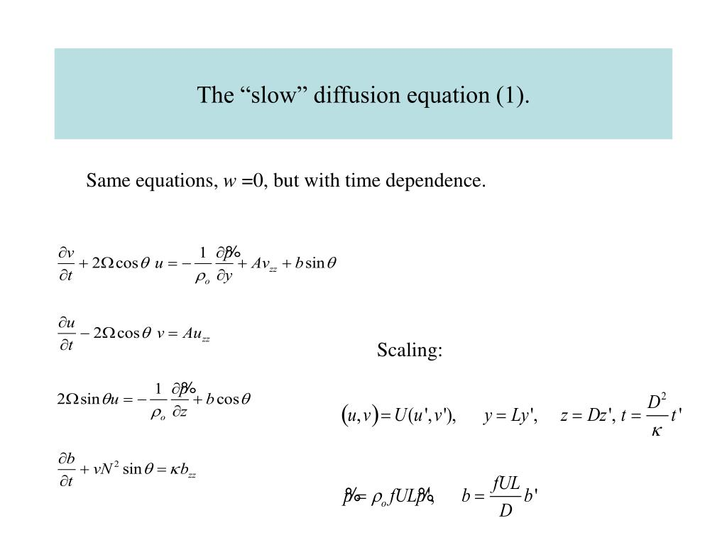 "The ""slow"" diffusion equation (1)."