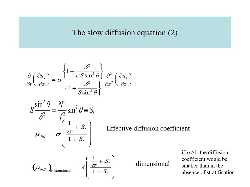 The slow diffusion equation (2)