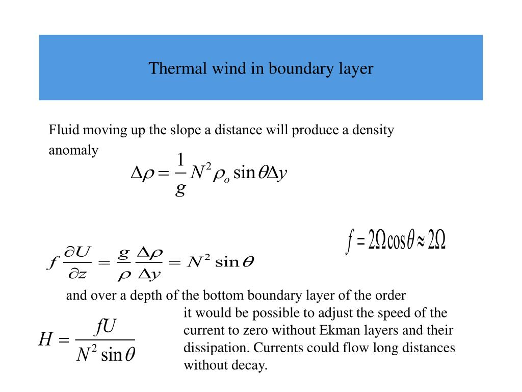 Thermal wind in boundary layer