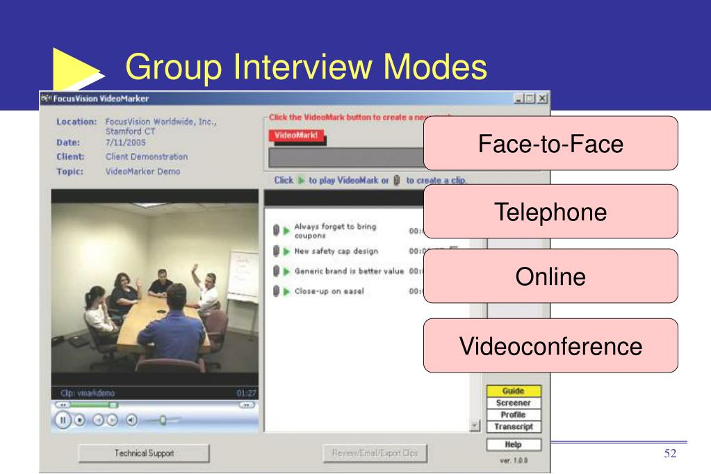 Group Interview Modes