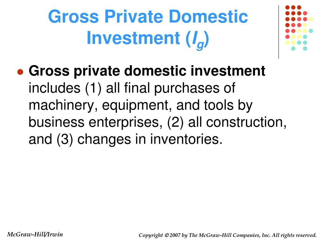 Gross Private Domestic Investment (