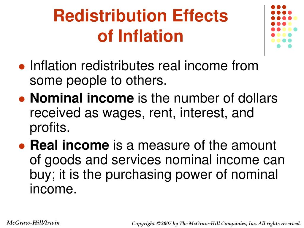 Redistribution Effects