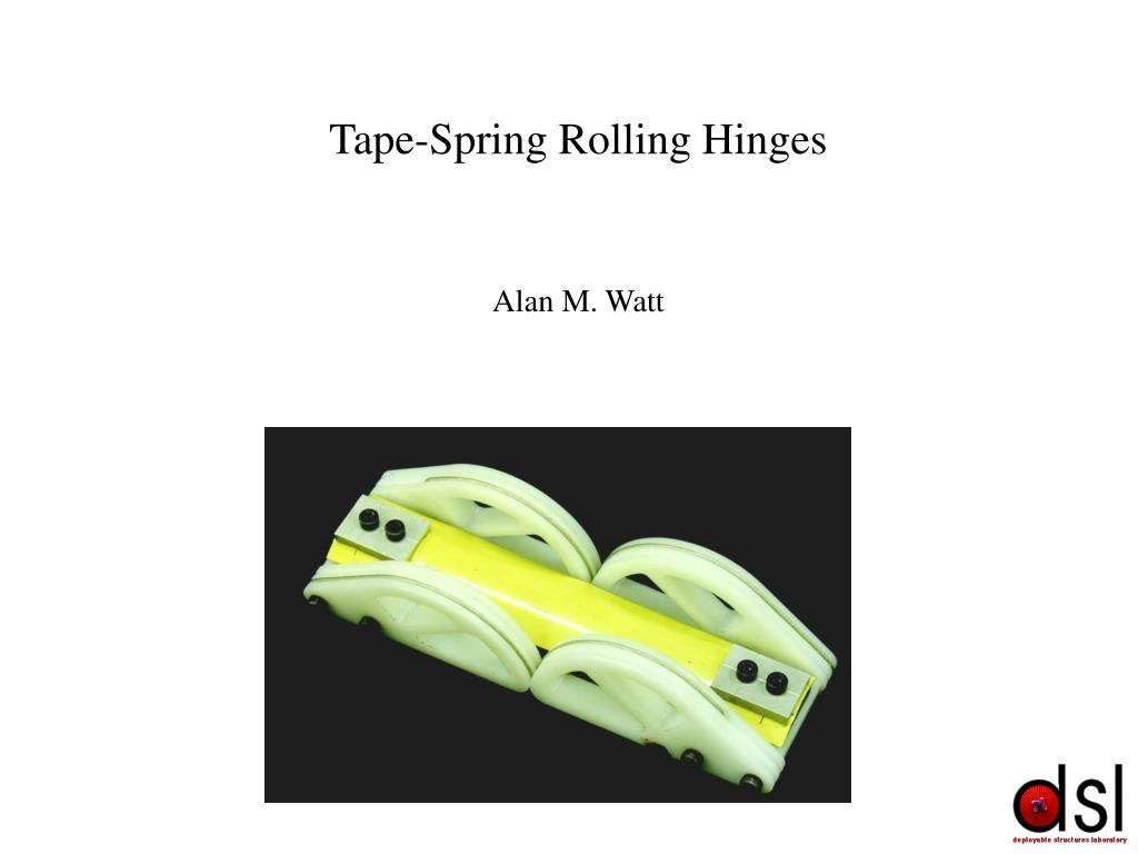 ppt tape spring rolling hinges powerpoint presentation