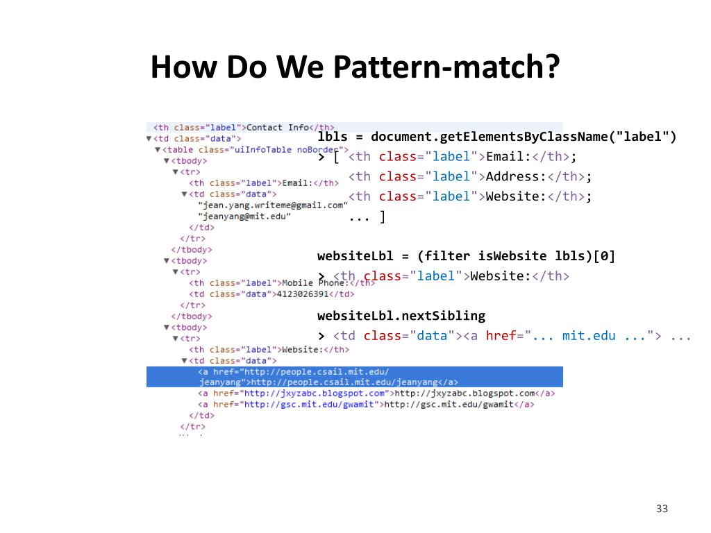 How Do We Pattern-match?